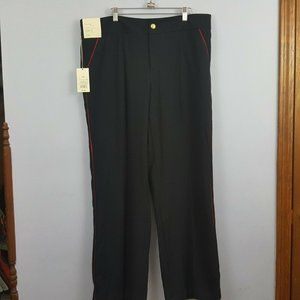 A New Day Stretch Navy Red Trim Pants Size 16W NWT